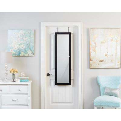 Black Mirrored Jewelry Armoire