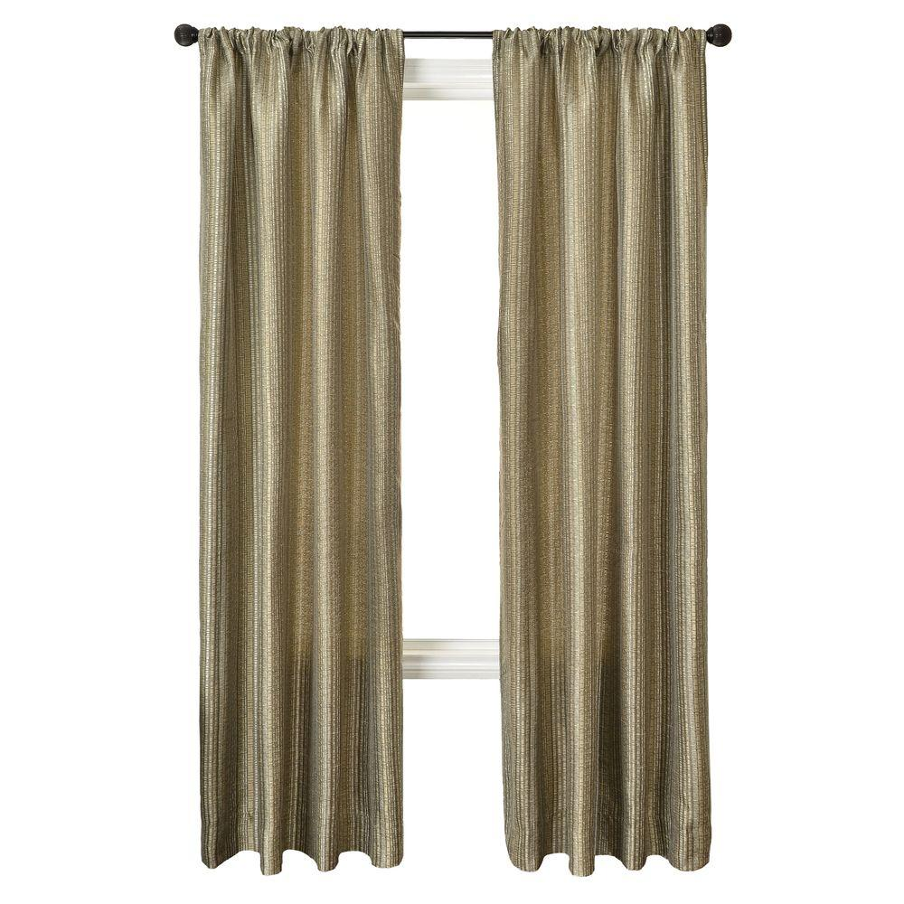 Home Decorators Collection Sheer Pewter Cavalli Batik Rod Pocket Curtain - 54 in.W x 96 in. L