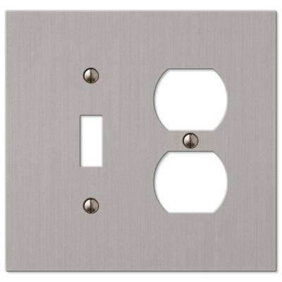 Elan 1 Toggle 1 Duplex Wall Plate - Brushed Nickel