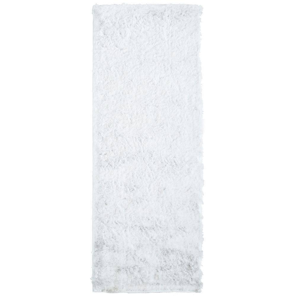 Home Decorators Collection So Silky White 2 ft. x 9 ft. Rug Runner
