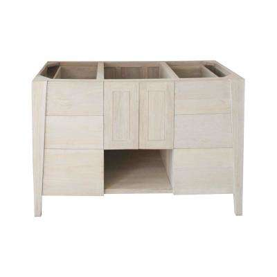 Significado 48 in. W Teak Vanity Bath Cabinet Only in Driftwood