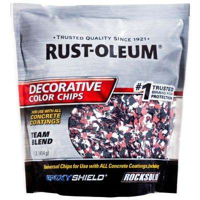 1 lb. Black White Red Decorative Color Chips (6-Pack)