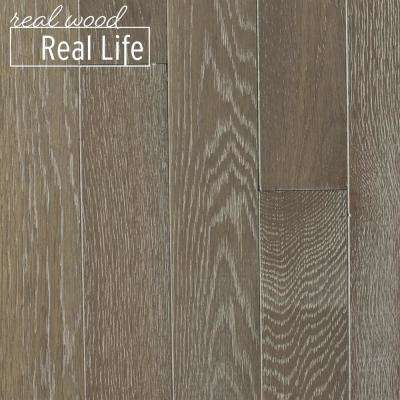 Oak Driftwood Brushed 3/4 in. Thick x 3 in. Wide x Varying Length Solid Hardwood Flooring (24 sq. ft. / case)