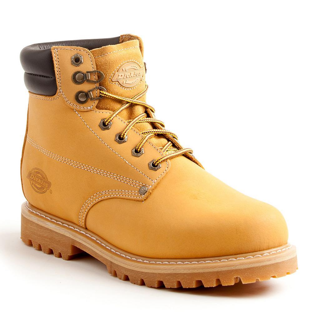 Raider Men Size 8.5 Wheat Soft Toe Leather Work Boot