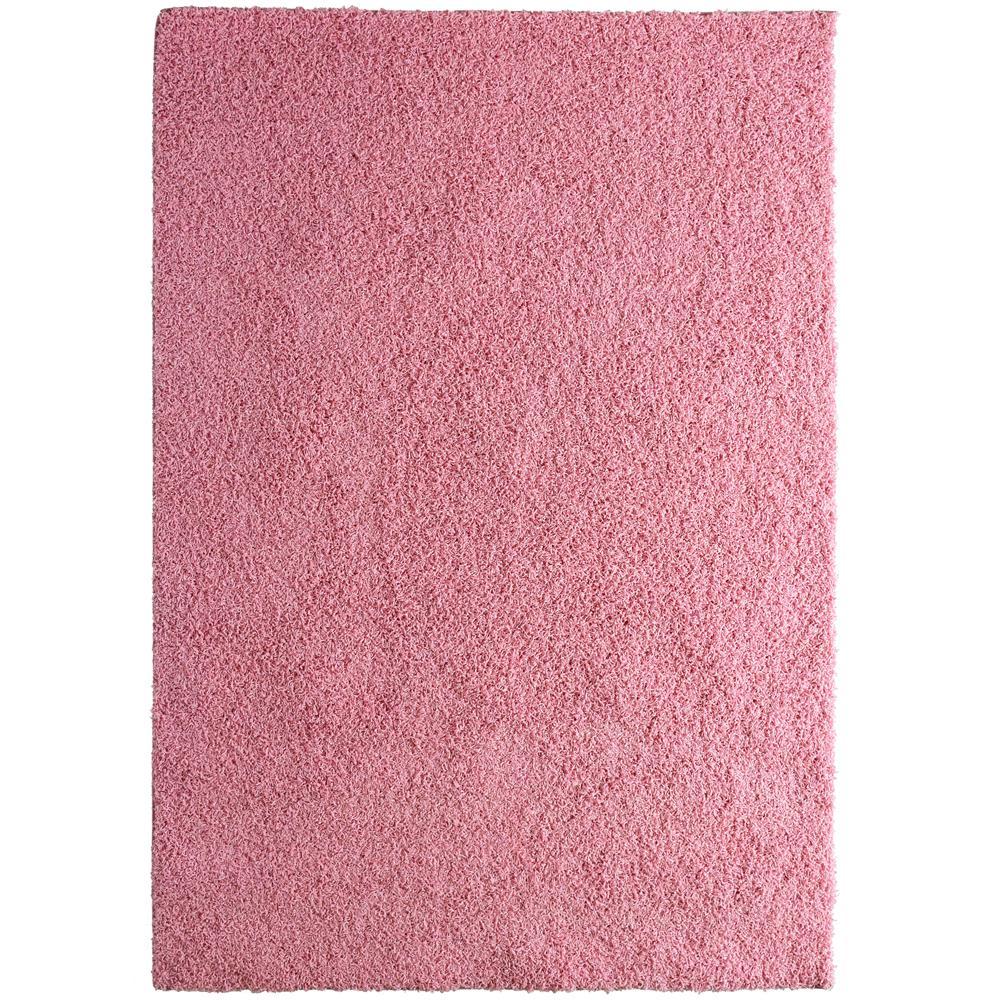 Custom Shag Pink 4 ft. x 6 ft. Indoor Area Rug