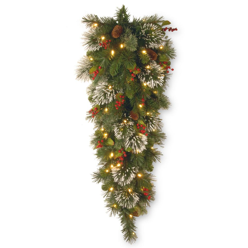 National Tree Company Wintry Pine 48 In Teardrop With