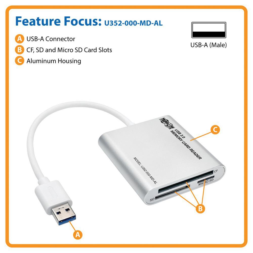 GE USB 2.0 11 IN 1 Memory Card Reader//Writer//Transfer CF Memory Stick