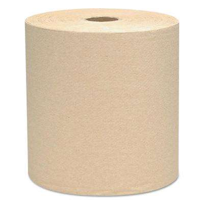 Natural Hard Roll Paper Towels (Case of 12)