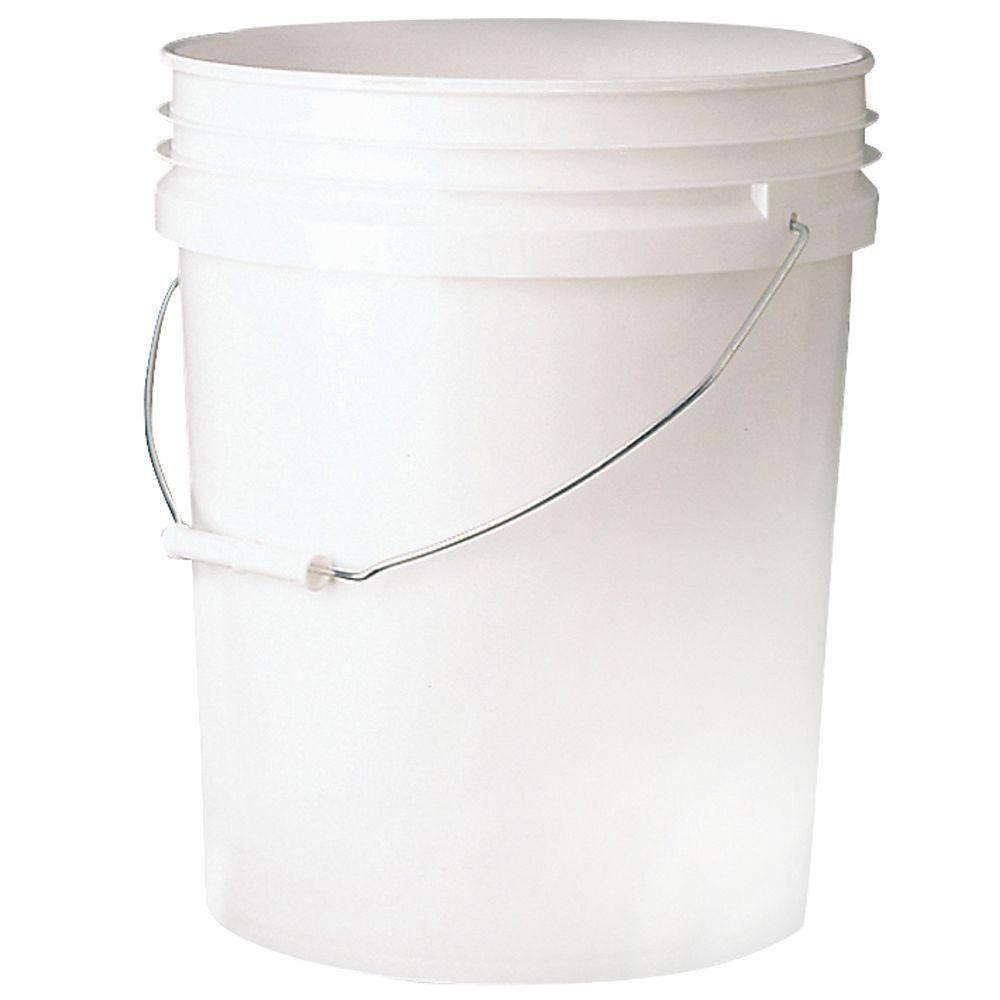 Leaktite 5 Gal Bucket 5gl White Pail The Home Depot