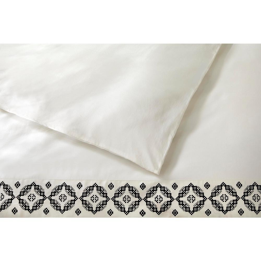 Reinhart 3-Piece Khaki Embroidered Duvet Cover Set