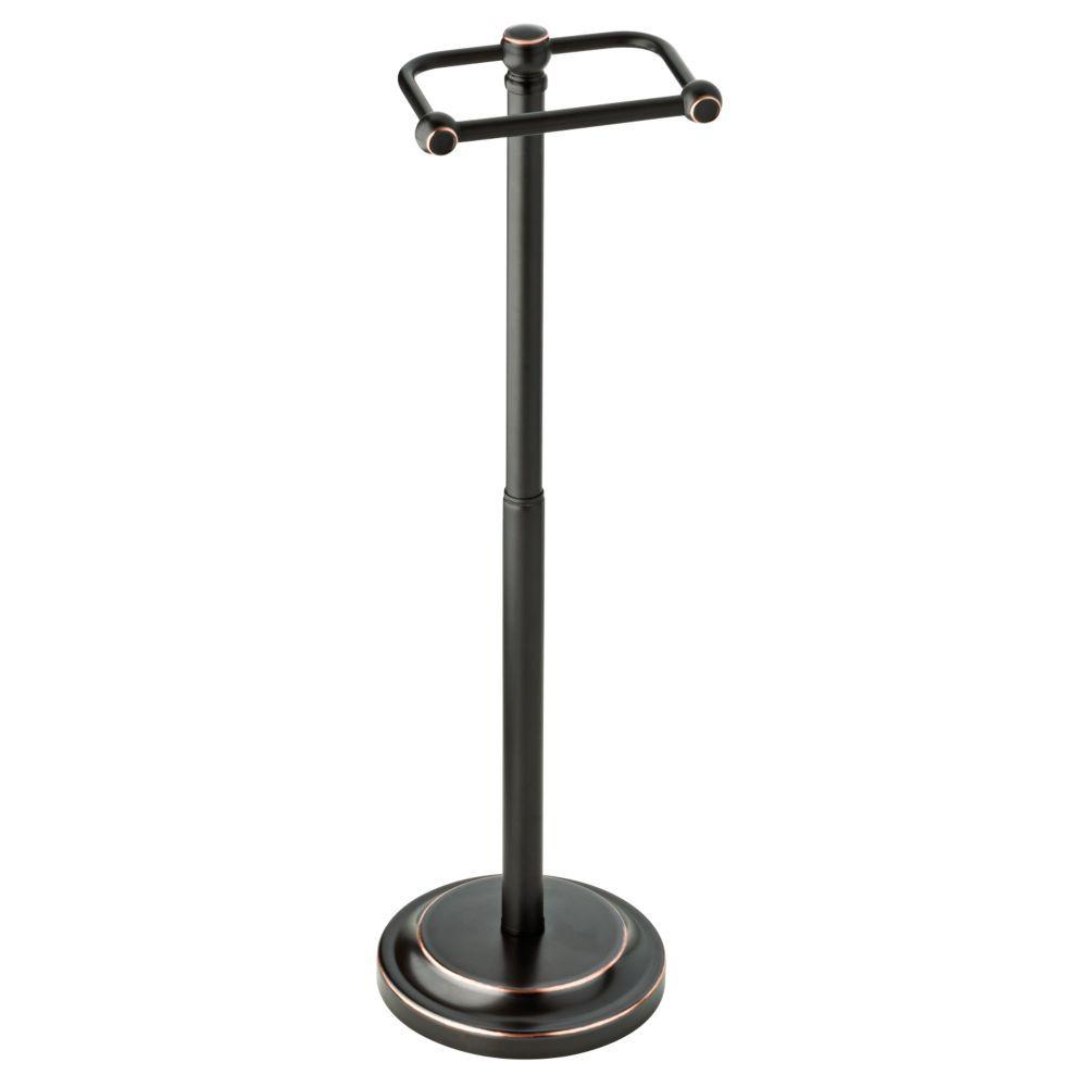 Delta Porter Telescoping Pivoting Free Standing Toilet Paper Holder