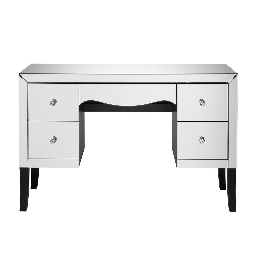 Acme Furniture Ratana Mirrored Vanity Desk