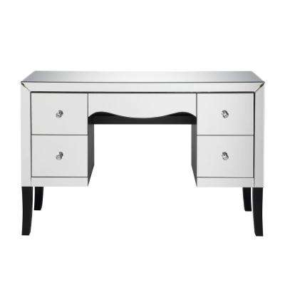 Superbe Ratana Mirrored Vanity Desk