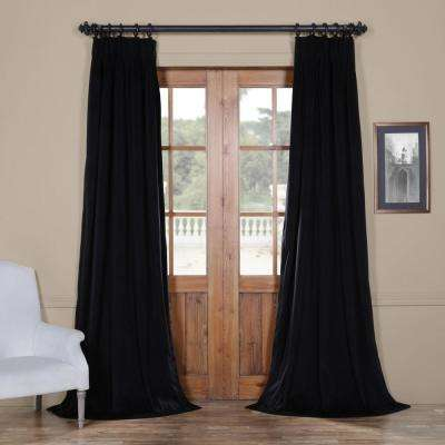 Blackout Signature Warm Black Pleated - 25 in. W x 96 in. L (1 Panel)