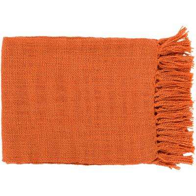 Madelyn Burnt Orange Acrylic Throw