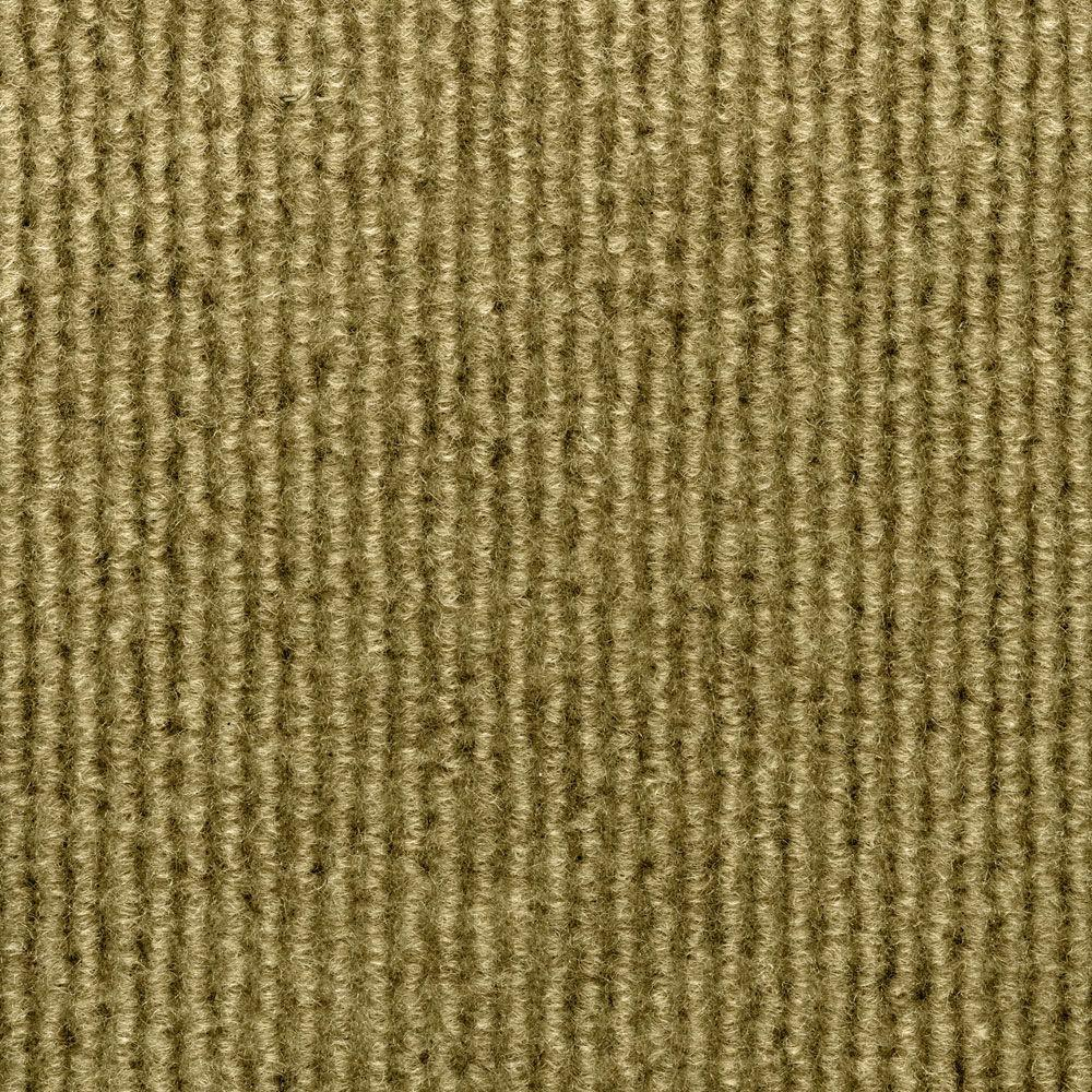 TrafficMASTER Sisteron Stone Beige Wide Wale Texture 18 in. x 18 in. Indoor/Outdoor Carpet Tile (10 Tiles/Case)