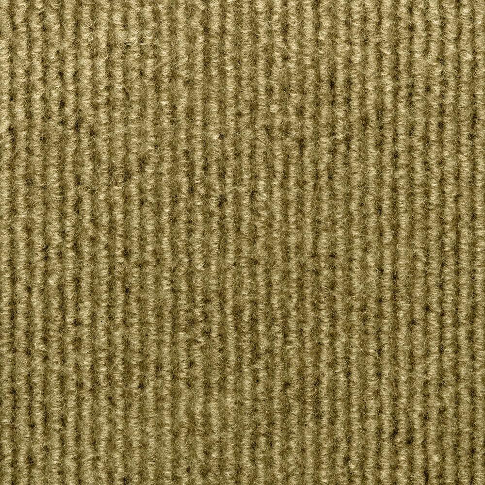 Sisteron Stone Beige Wide Wale Texture 18 in. x 18 in. Indoor/Outdoor Carpet Tile (10 Tiles/Case)