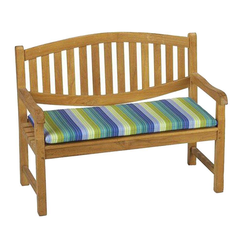 Home Decorators Collection Sunbrella Seaside Seville Outdoor Bench Cushion