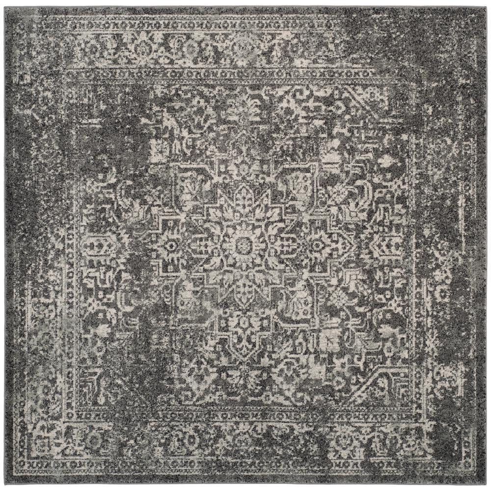 Evoke Gray Ivory 9 Ft X Square Area Rug