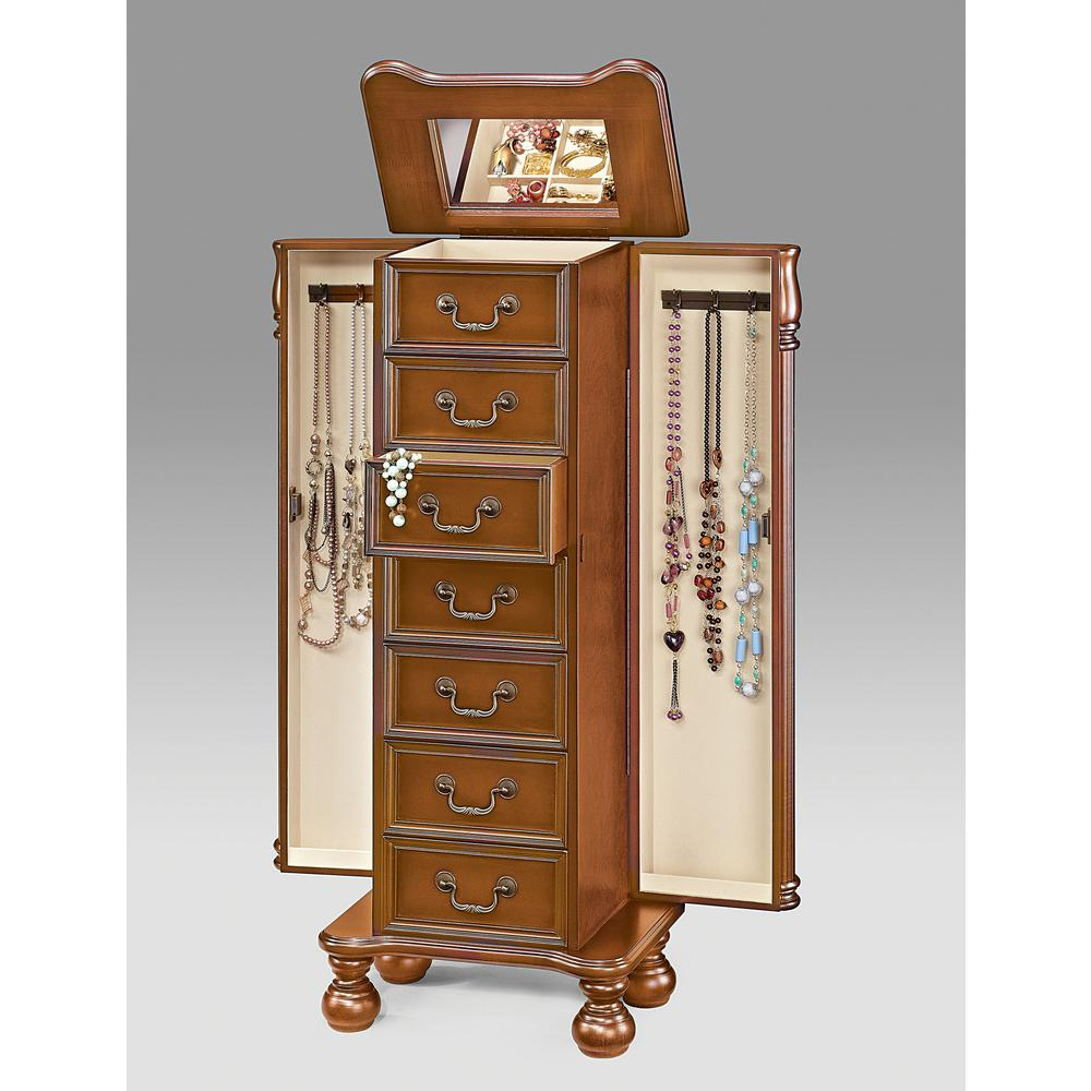 Acme Furniture Lopez Jewelry Armoire in Cherry97006 The Home Depot