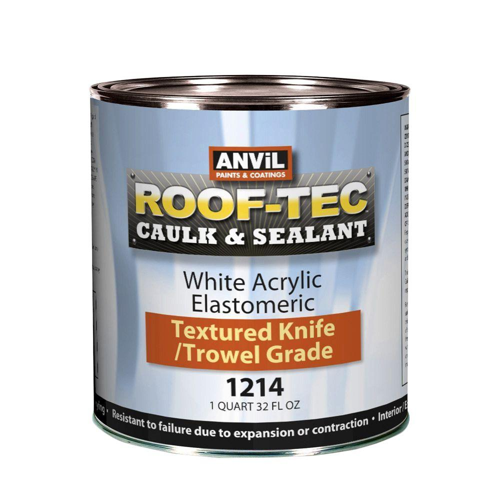 0.25 Gal. Acrylic White Elastomeric Smooth Brush Grade Caulk and Sealant