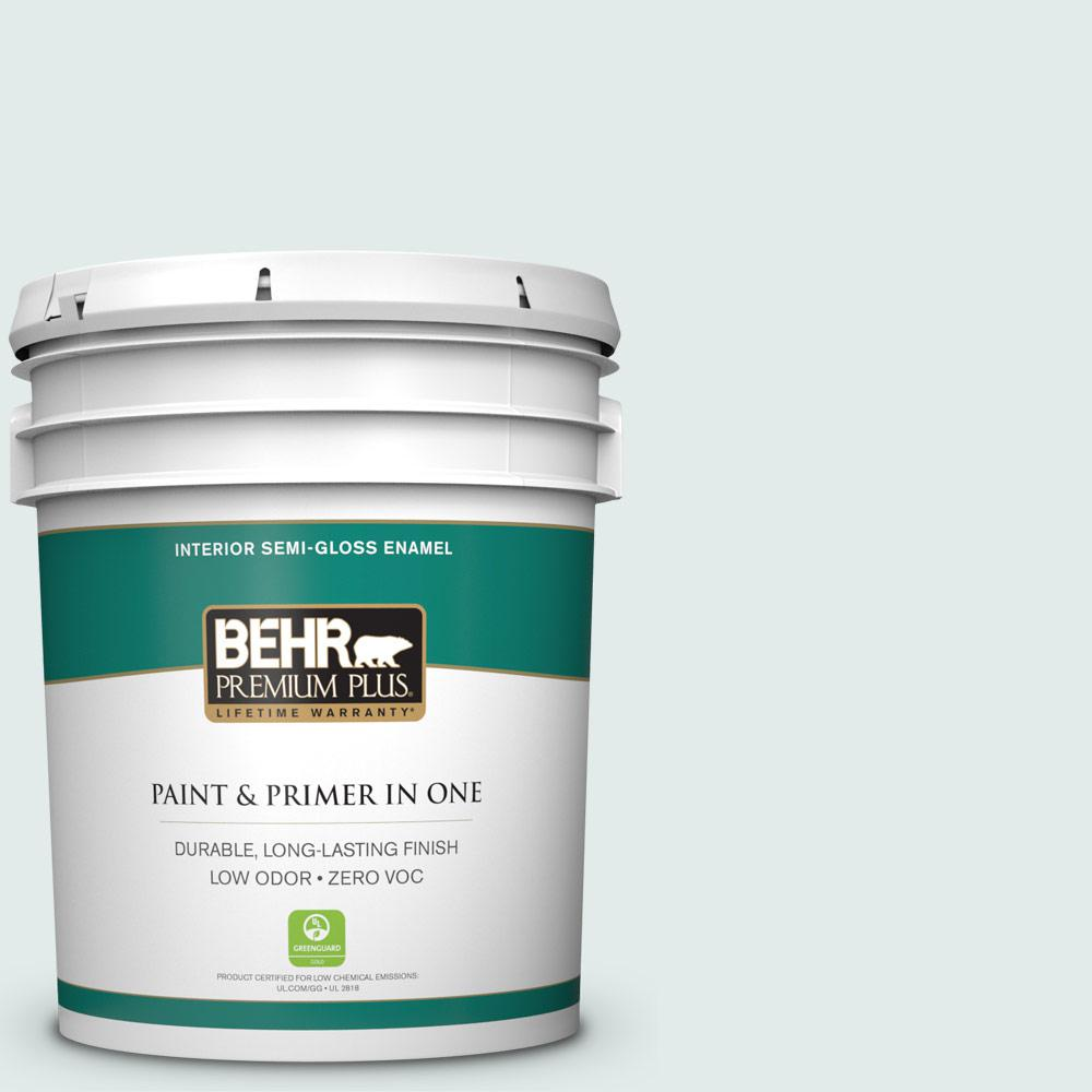 BEHR Premium Plus 5-gal. #W-D-520 Clear View Zero VOC Semi-Gloss Enamel Interior Paint