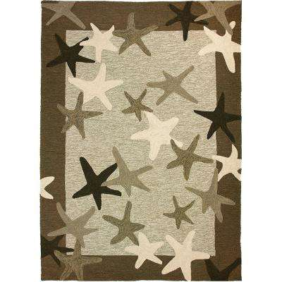 Starfish Field Khaki Green 8 ft. x 10 ft. Indoor/Outdoor Area Rug