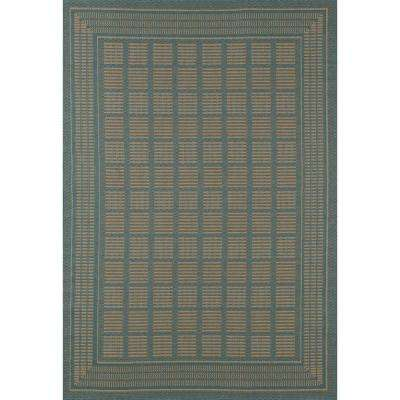 Plymouth Basket Blue 7 ft. x 9 ft. Indoor/Outdoor Area Rug