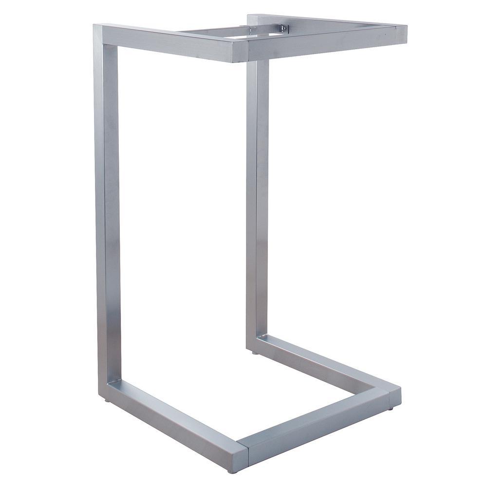 Alta Satin Chrome Pedestal Display Table Frame Only