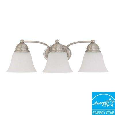 Nuwa 3-Light Brushed Nickel Bath Vanity Light