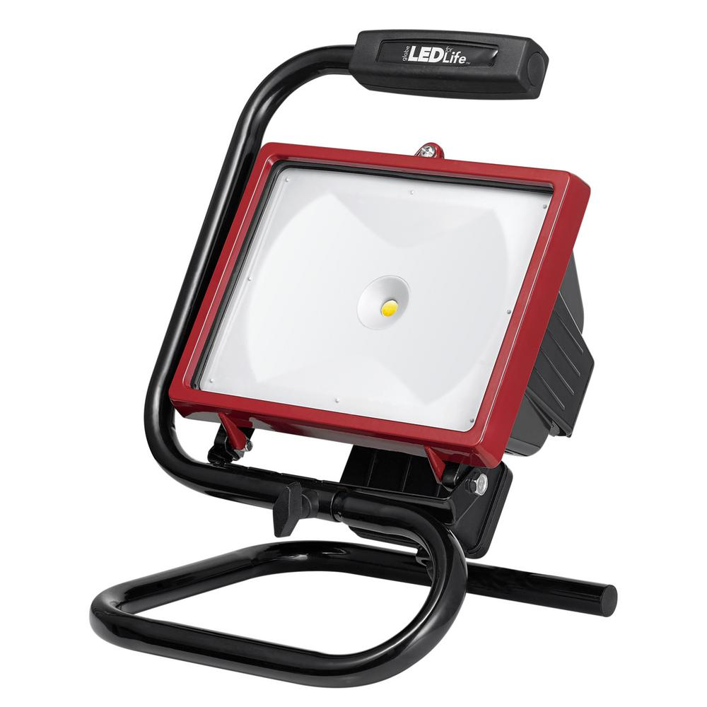 Globe Electric LED Integrated Red Work Light