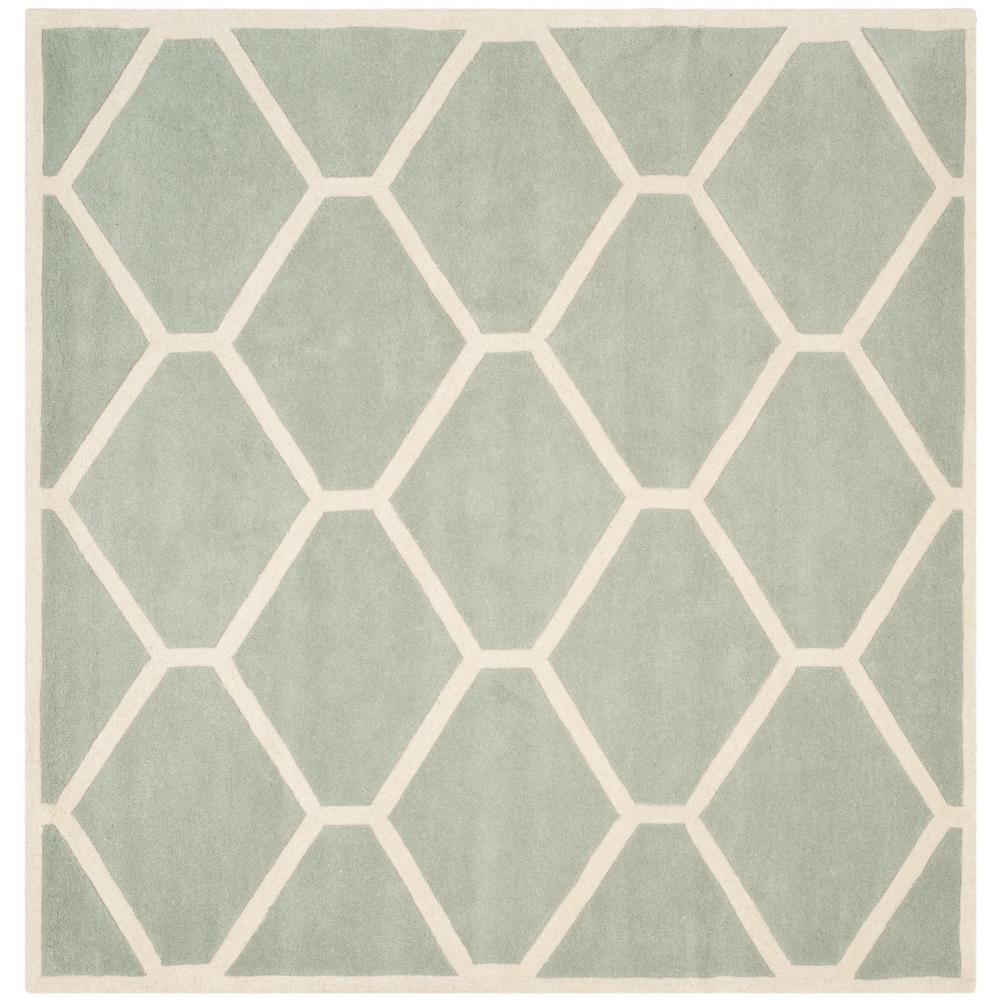 Chatham Gray/Ivory 7 ft. x 7 ft. Square Area Rug
