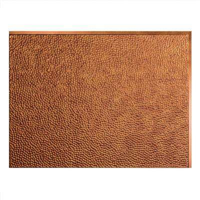 24 in. x 18 in. Hammered PVC Decorative Backsplash Panel in Antique Bronze