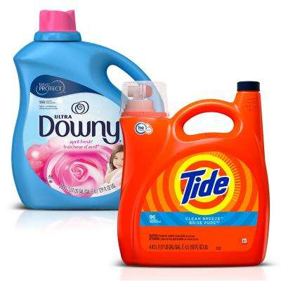 Clean Breeze HE Liquid Laundry Detergent and April Fresh Fabric Softener