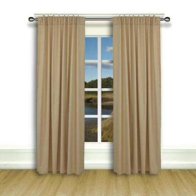 Glasgow 56 in. W x 72 in. L Woven Rod Pocket Window Panel with Back Tabs in Harvest