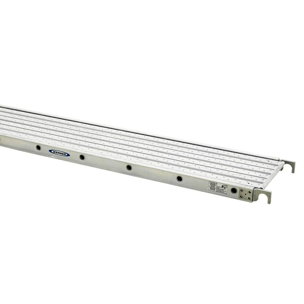 Werner 10 ft. Aluminum Decked Aluma-Plank with 250 lb. Lo...