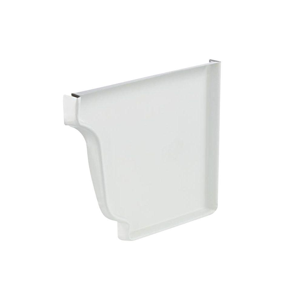 Amerimax Home Products White Vinyl K Style End Cap Set