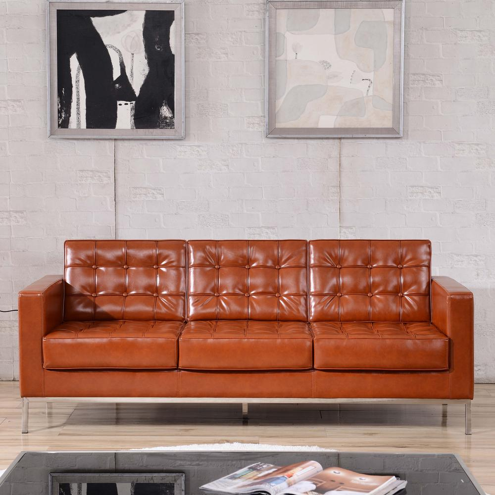 Incredible Cognac Standard Sofa Gmtry Best Dining Table And Chair Ideas Images Gmtryco