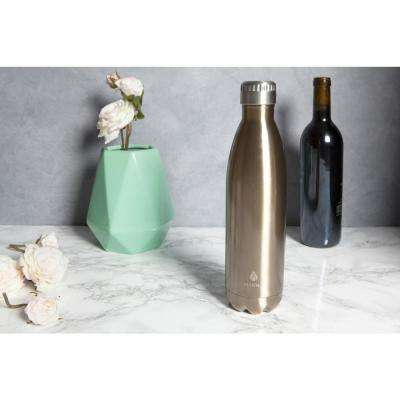 Vogue 25 oz. Metallic Gold Vacuum Insulated Stainless Steel Bottle