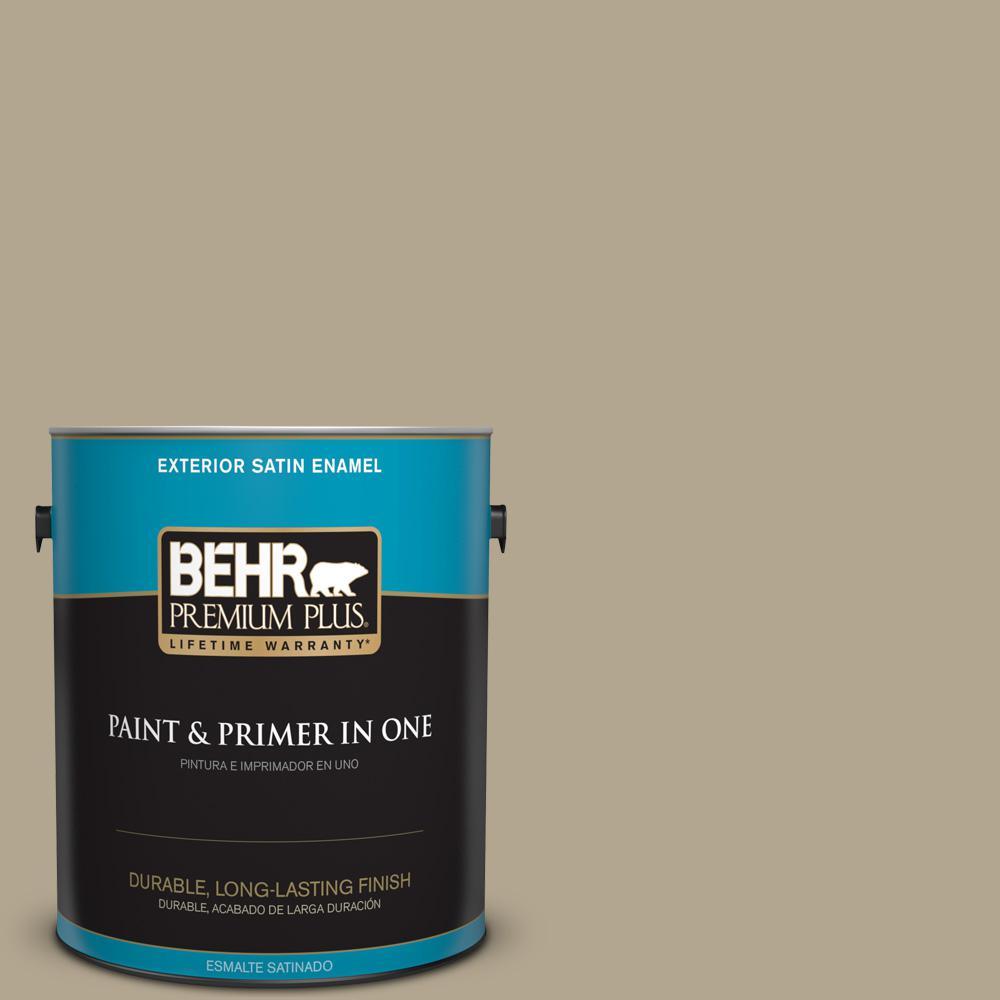 1 gal. #PPU7-22 Safari Vest Satin Enamel Exterior Paint