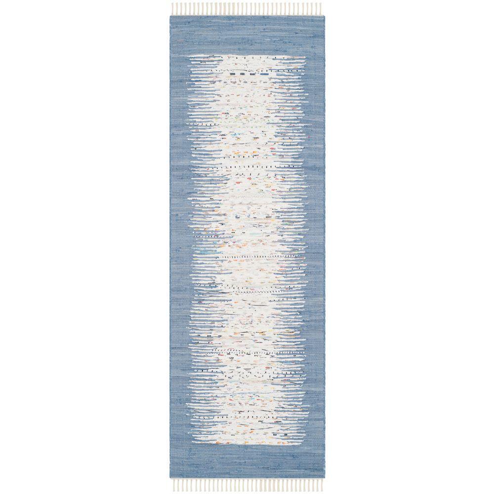 Montauk Ivory/Dark Blue 2 ft. 3 in. x 9 ft. Runner