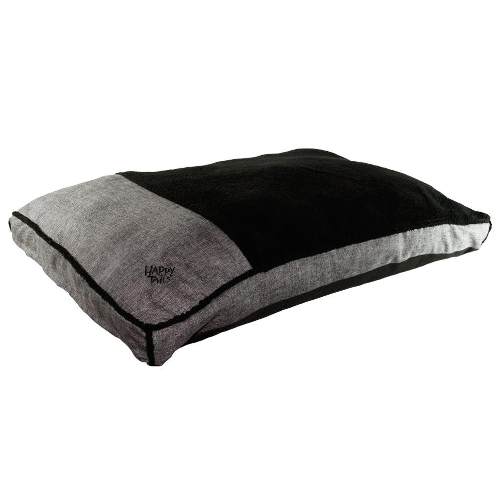 HappyTails Happy Tails Large Charcoal Linen Gusseted Bed