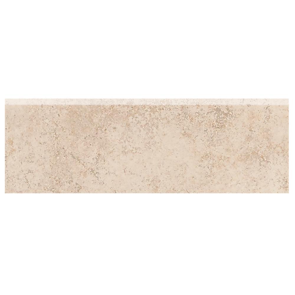 Briton Bone 2 in. x 6 in. Ceramic Bullnose Wall Tile
