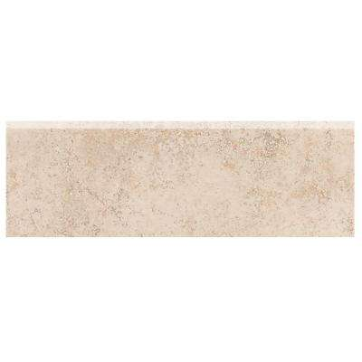 Briton Bone 2 in. x 6 in. Ceramic Bullnose Wall Tile