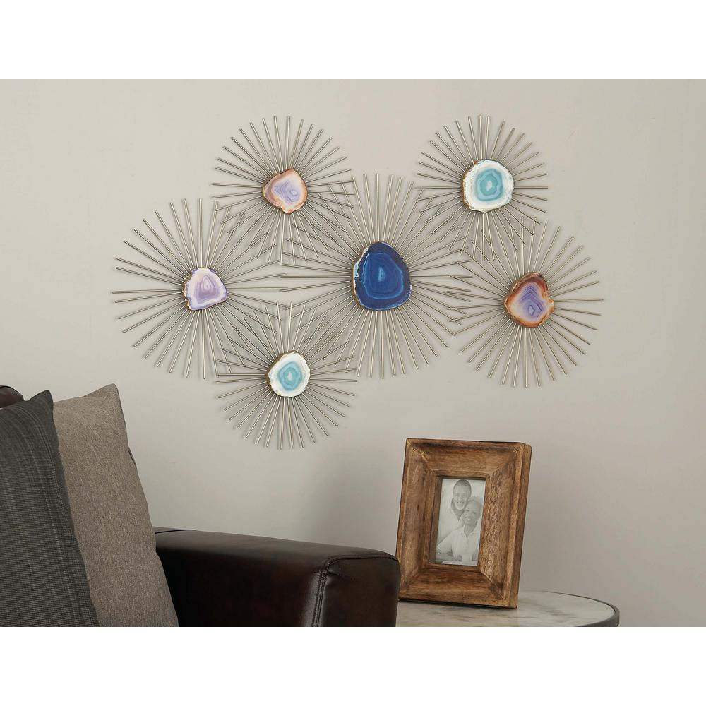 23 in x 35 in iron and geode wall decor 22625 the home depot iron and geode wall decor ppazfo