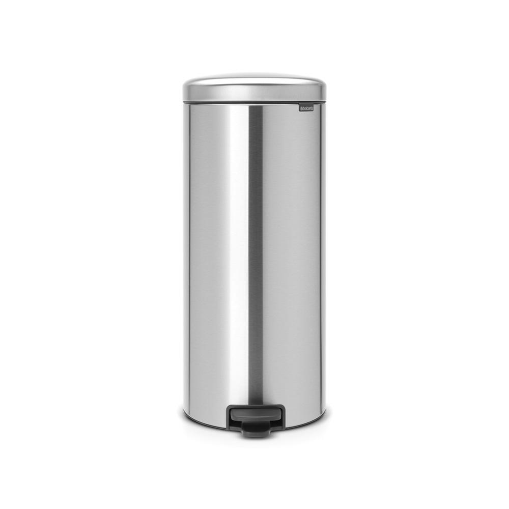 8 Gal. Matte Steel Fingerprint Proof Step-On Trash Can
