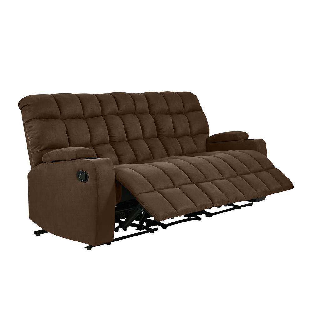 Magnificent Prolounger 3 Seat Dark Brown Microfiber Wall Hugger Storage Beatyapartments Chair Design Images Beatyapartmentscom