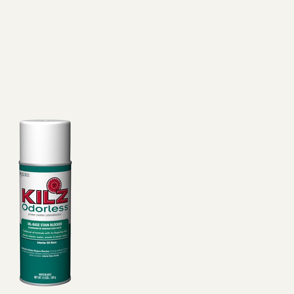 13 oz. ORIGINAL LOW ODOR White Oil-Based Interior Primer Spray, Sealer, and Stain Blocker