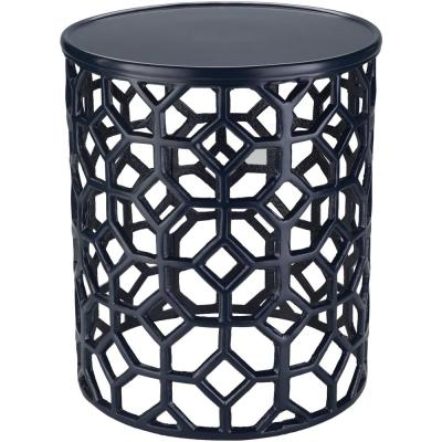Athina Black Accent Table