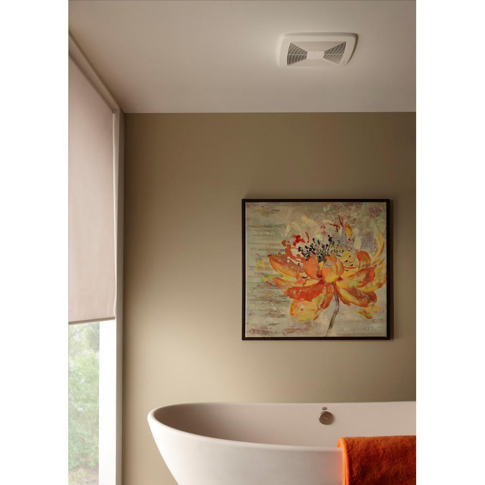Broan Nutone Ultra Green Xb Series 110 Cfm Ceiling Bathroom Exhaust Fan Energy Star Xb110 The Home Depot